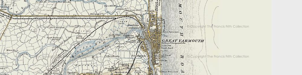 Old map of Great Yarmouth in 1901-1902