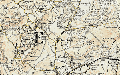 Old map of Woolmer Pond in 1897-1900
