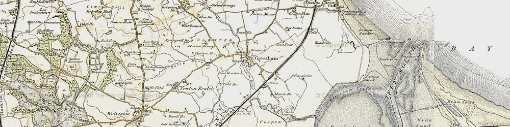 Old map of Greatham in 1903-1904