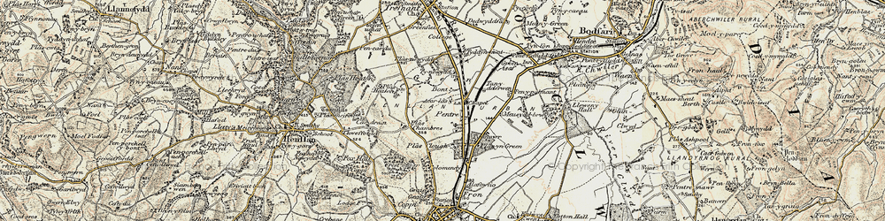 Old map of Accar Las in 1902-1903