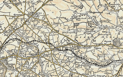 Old map of Green Bottom in 1900