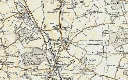 Old map of Green End in 1898-1899