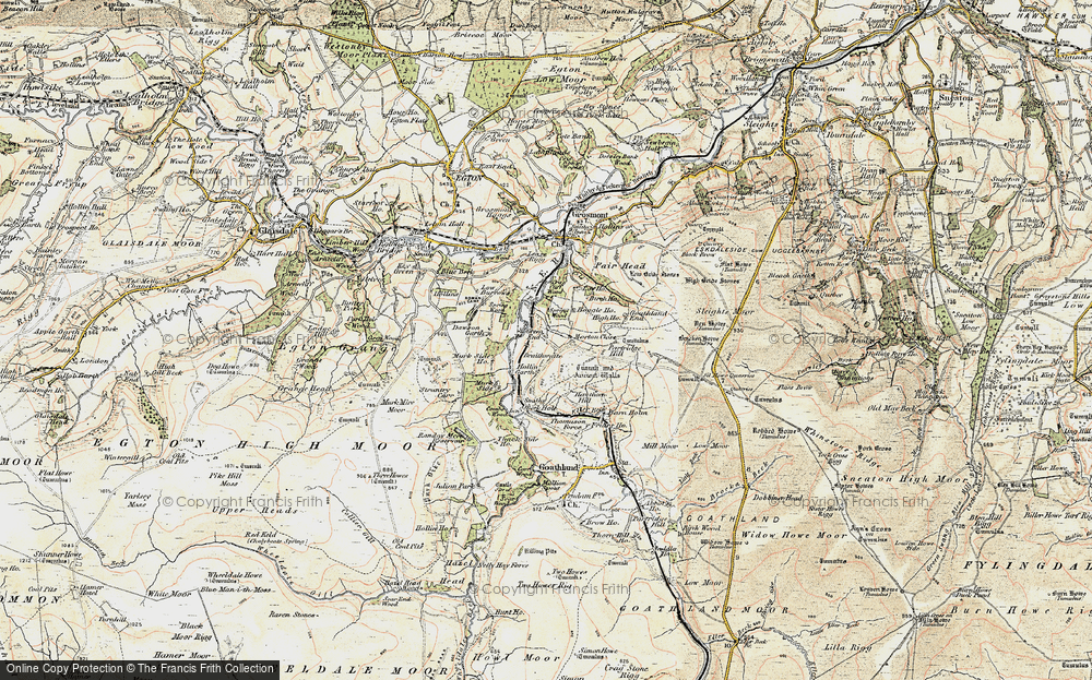 Old Map of Historic Map covering Beck Hole in 1903-1904
