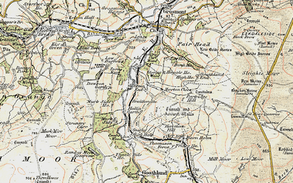 Old map of Beck Hole in 1903-1904