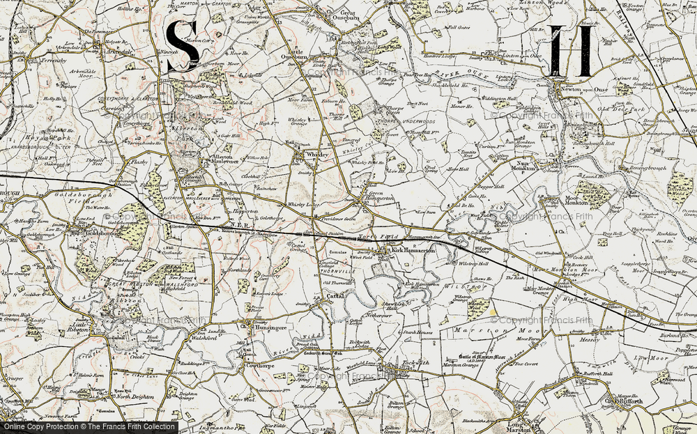Old Map of Green Hammerton, 1903-1904 in 1903-1904