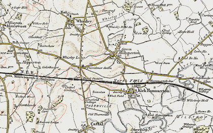 Old map of Green Hammerton in 1903-1904