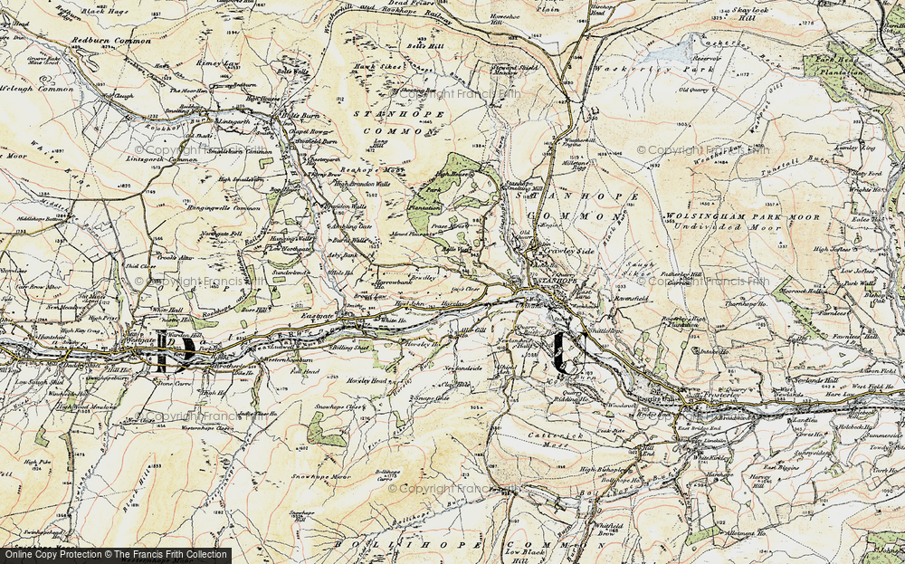Old Map of Historic Map covering Aller Gill in 1901-1904