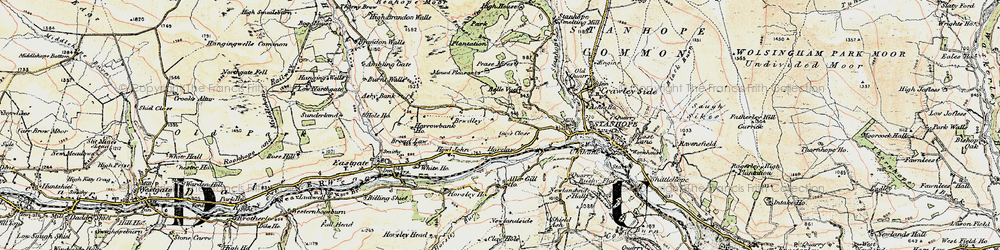 Old map of Aller Gill in 1901-1904