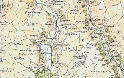 Old map of Withered Howe in 1903-1904