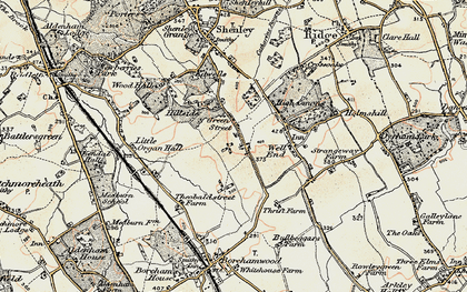 Old map of Green Street in 1897-1898