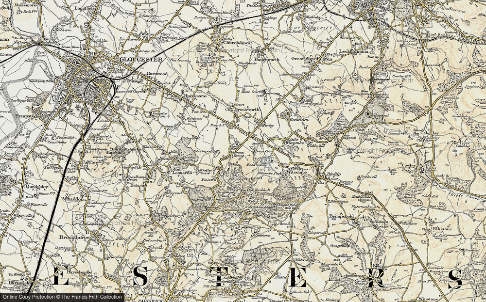 Old Map of Historic Map covering Gloucestershire in 1898-1900