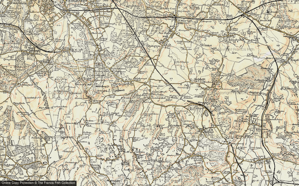 Old Map of Green Street Green, 1897-1902 in 1897-1902
