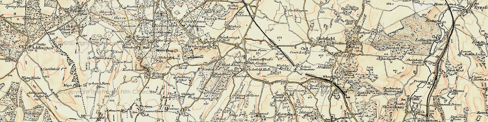 Old map of Green Street Green in 1897-1902