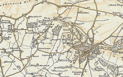 Old map of Green, The in 1897-1899
