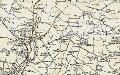 Old map of Green Tye in 1898-1899