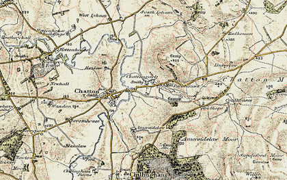 Old map of Amersidelaw Moor in 1901-1903