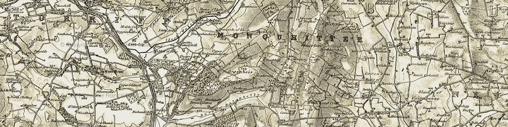 Old map of Woodhead of Delgaty in 1909-1910