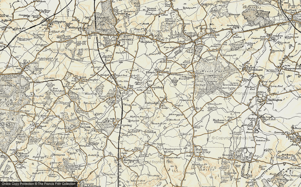 Old Map of Greenfield, 1898-1901 in 1898-1901