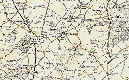 Old map of Greenfield in 1898-1901