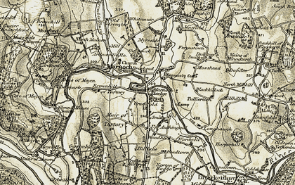 Old map of Woodhead in 1910