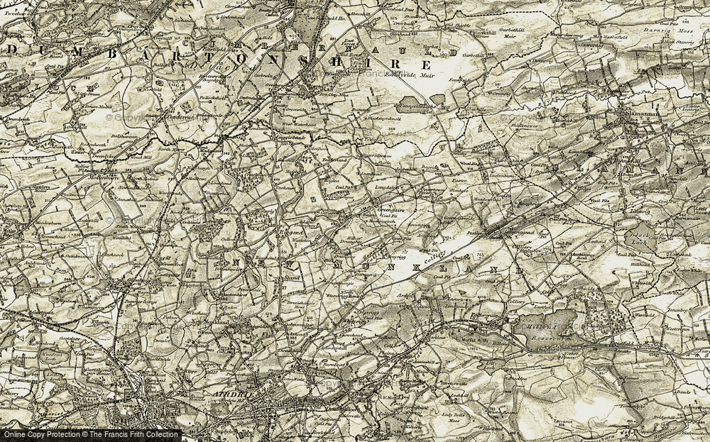 Old Map of Historic Map covering Langdales in 1904-1905