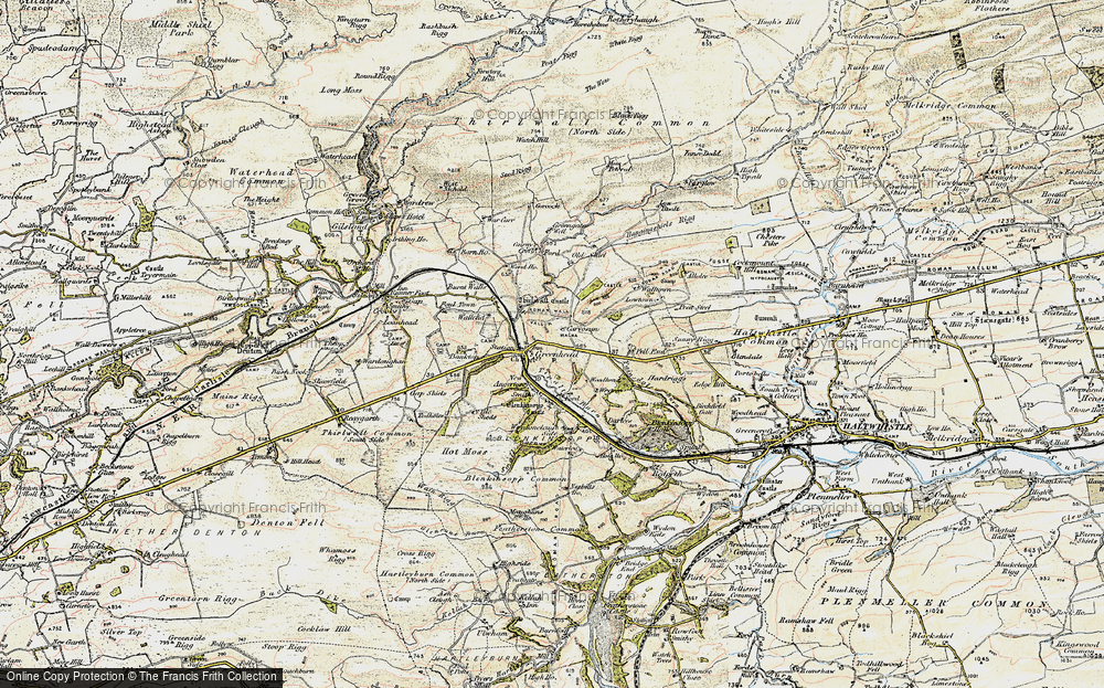 Old Map of Historic Map covering Bankfoot in 1901-1904
