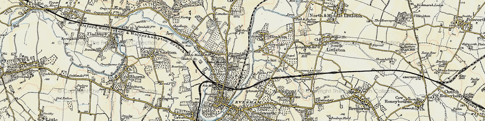 Old map of Leicester Tower in 1899-1901