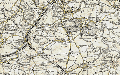 Old map of Greenhill in 1902-1903