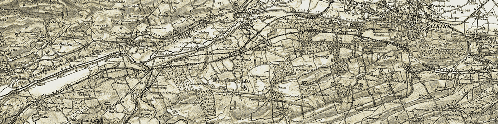 Old map of Tippetcraig in 1904-1907