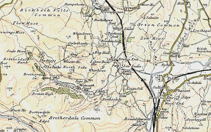 Old map of Whinhowe in 1903-1904
