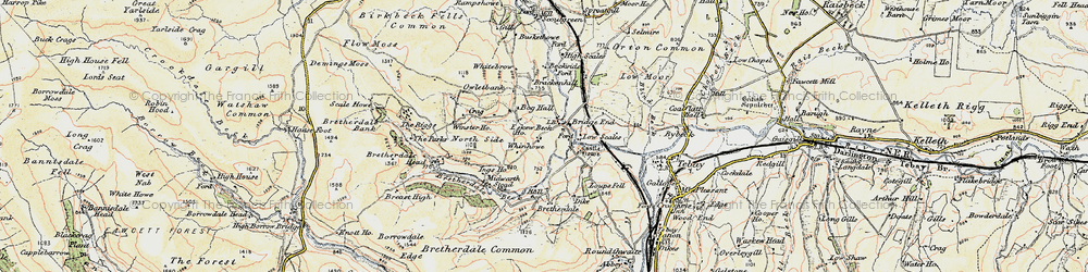 Old map of Whinash in 1903-1904