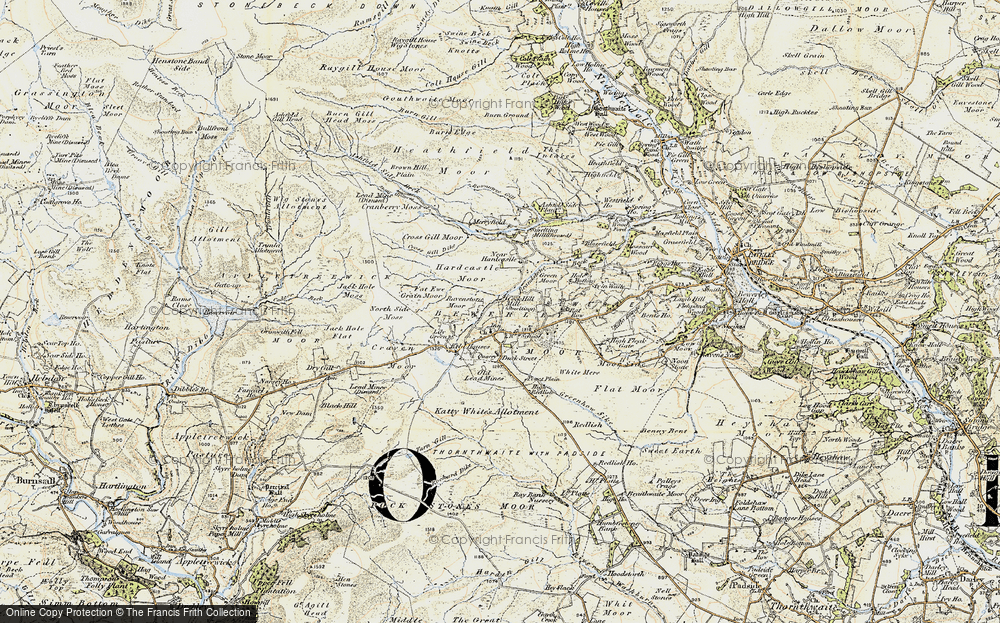 Old Map of Historic Map covering Lily Green in 1903-1904
