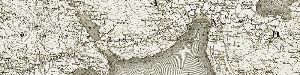 Old map of Greenigoe in 1911-1912