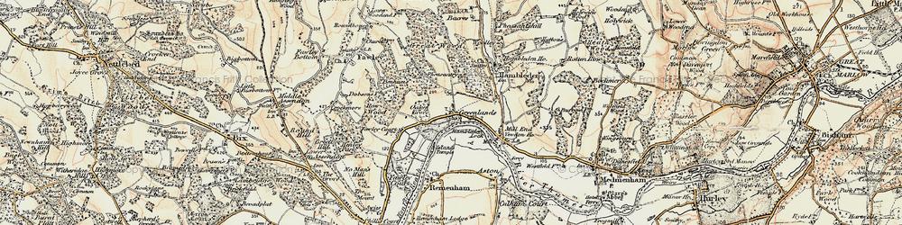 Old map of Woolleys in 1897-1909