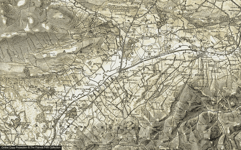 Old Map of Historic Map covering Langbank in 1906-1907