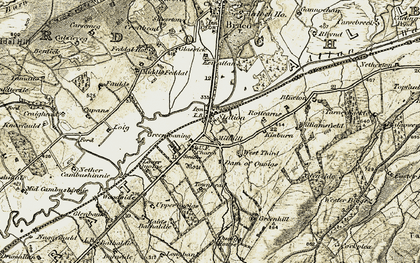 Old map of Langbank in 1906-1907