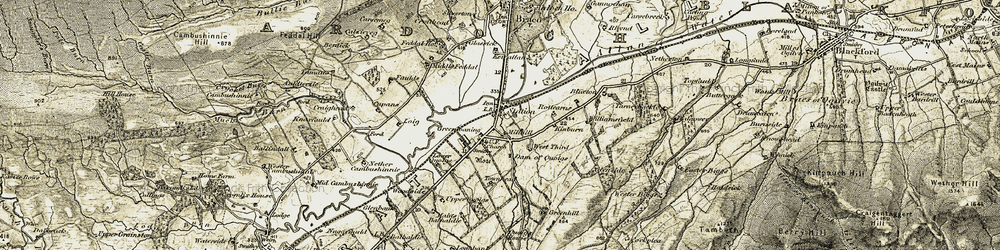 Old map of Williamfield in 1906-1907