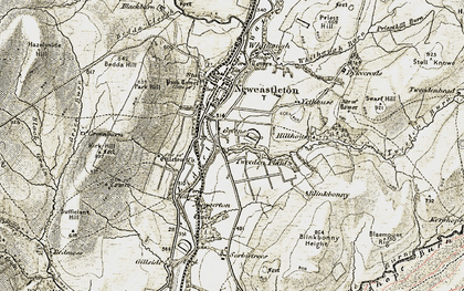 Old map of Thwartergill Head in 1901-1904