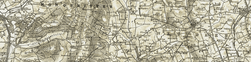 Old map of Allathan Ho in 1909-1910