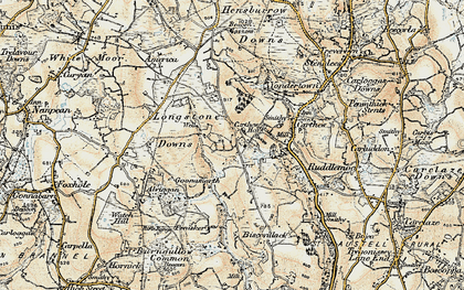 Old map of Greensplat in 1900