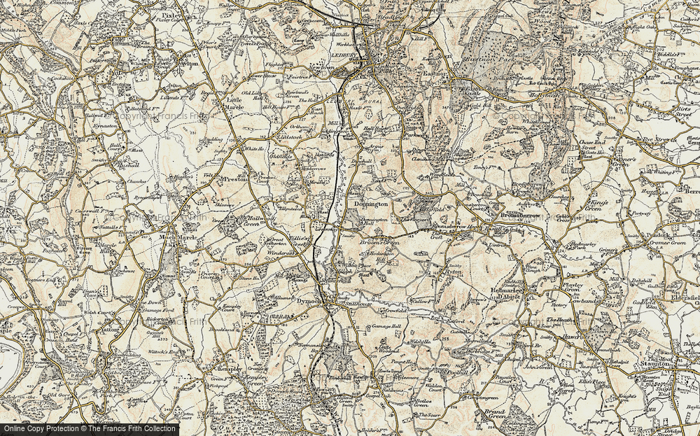Old Map of Historic Map covering Tillputsend Cott in 1899-1900