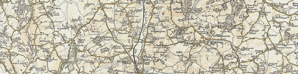 Old map of Tillputsend Cott in 1899-1900