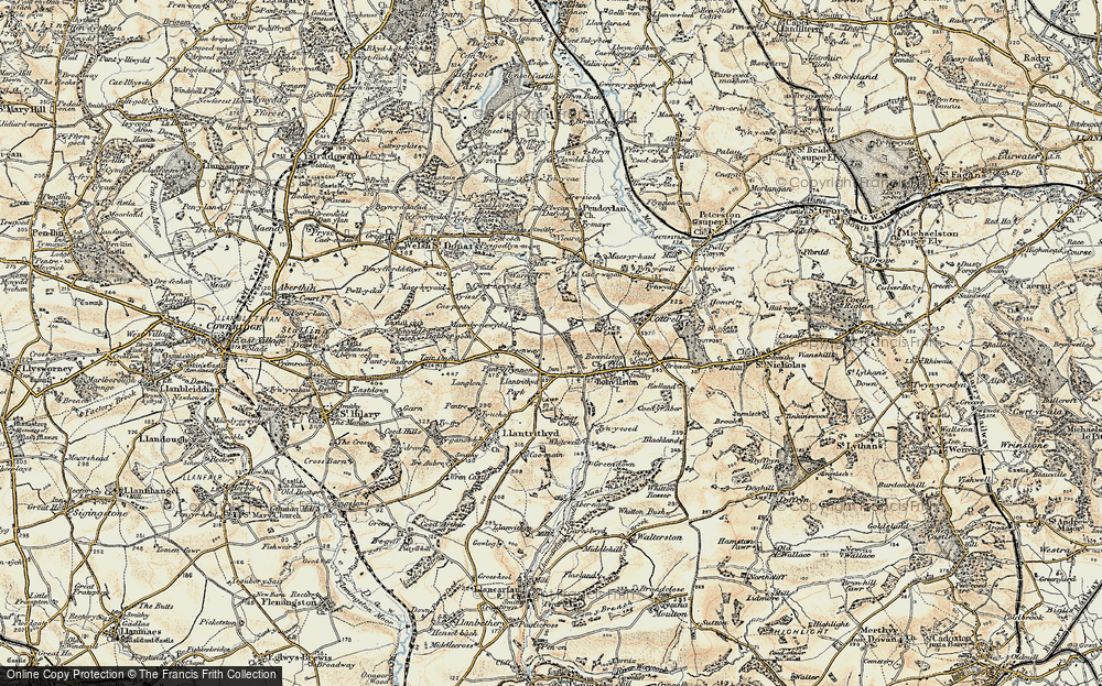 Old Map of Historic Map covering Lillypot in 1899-1900