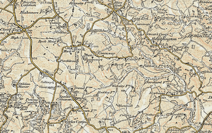 Old map of Worsley Ho in 1901-1902