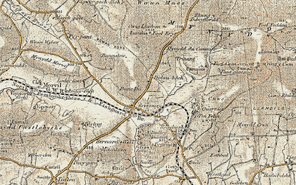 Old map of Banc Du in 1901-1912