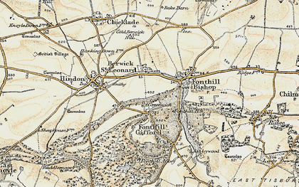 Old map of Greenwich in 1897-1899