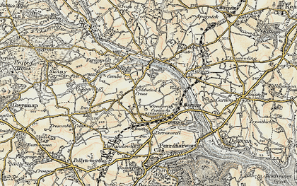 Old map of Greenwith Common in 1900