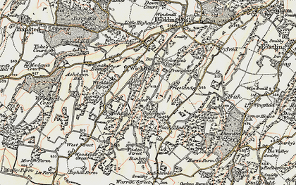 Old map of Wichling Wood in 1897-1898