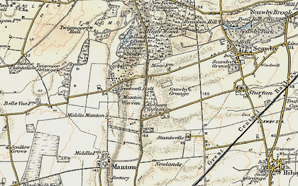 Old map of Greetwell in 1903-1908