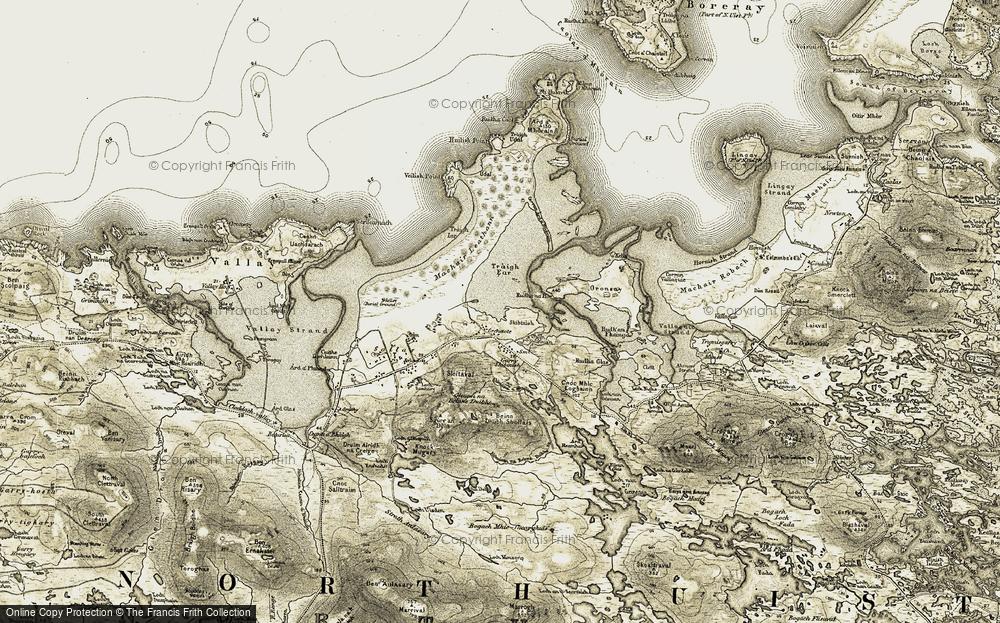 Old Map of Historic Map covering Abhainn a' Mhuilinn in 1911